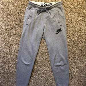 Women's grey Nike sweatpants
